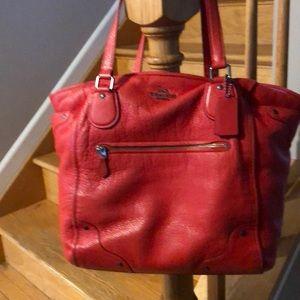 Orange leather Coach bag